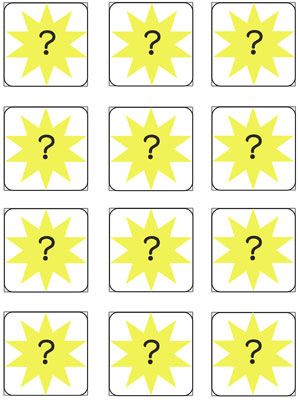 telling time memory game printable