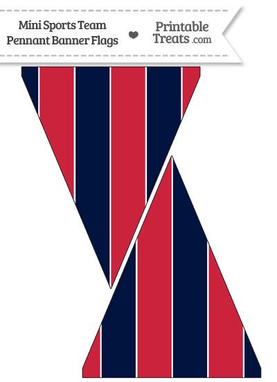 texans colors mini pennant banner flags printable. Black Bedroom Furniture Sets. Home Design Ideas