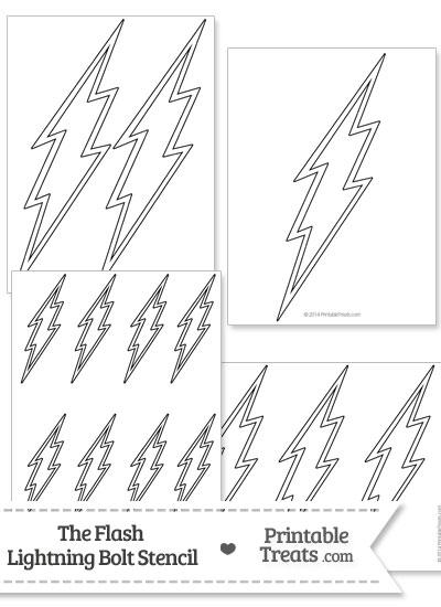 the flash lightning bolt stencil printable treats com
