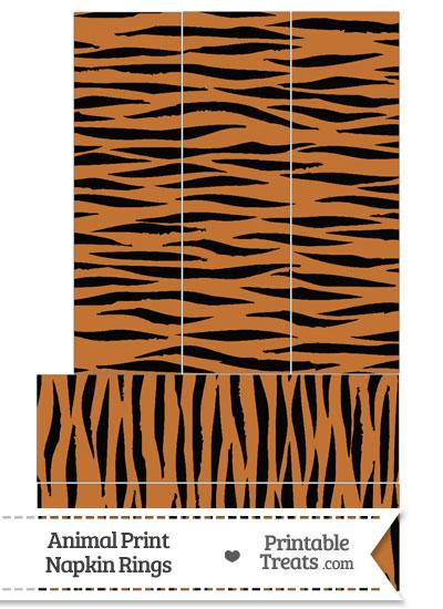 Tiger Print Napkin Rings from PrintableTreats.com