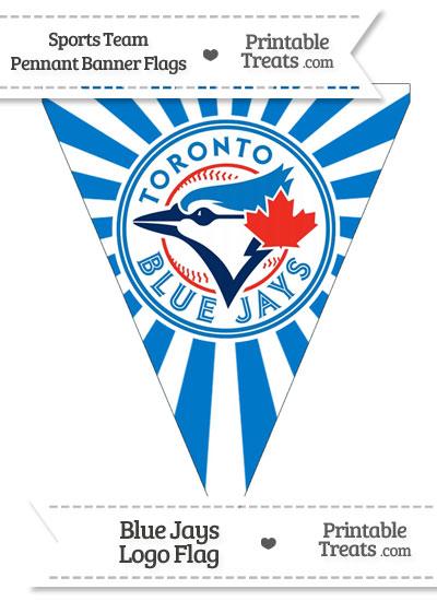 Toronto Blue Jays Pennant Banner Flag Printable Treats Com
