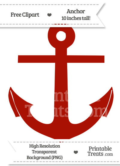 Turkey Red Anchor Clipart From PrintableTreats