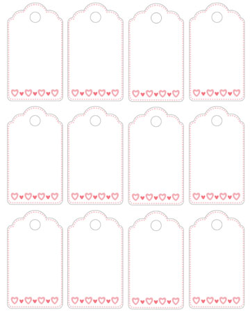 Blank tags to print