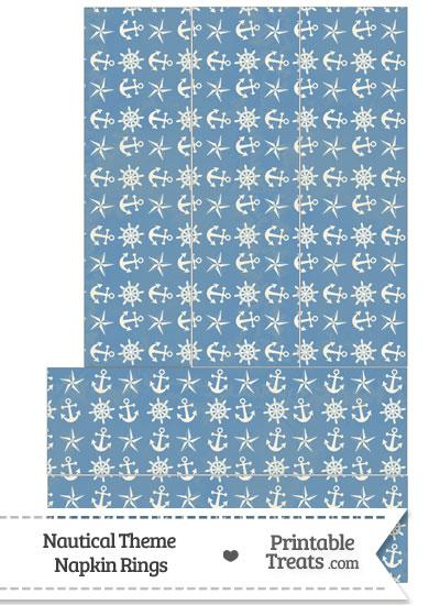 Vintage Blue Nautical Napkin Rings from PrintableTreats.com