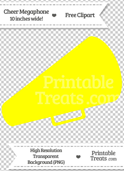 Yellow Cheer Megaphone Clipart from PrintableTreats.com