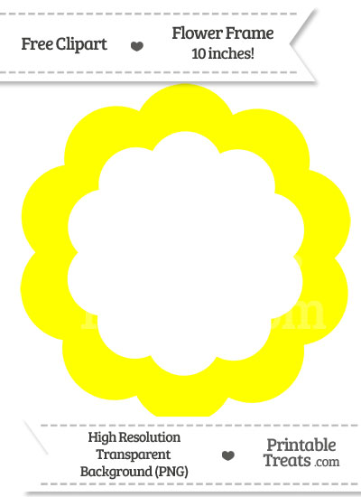 Yellow Flower Frame Clipart from PrintableTreats.com