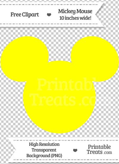 Yellow Mickey Mouse Head Clipart Printable Treats Com