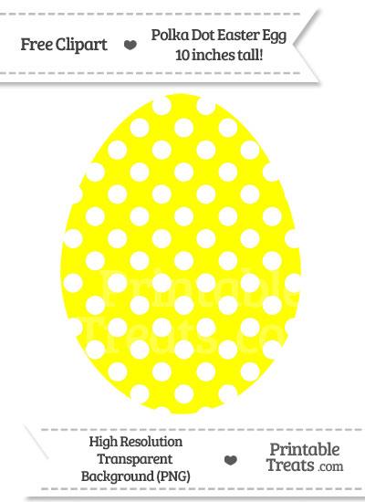 Yellow Polka Dot Easter Egg Clipart from PrintableTreats.com