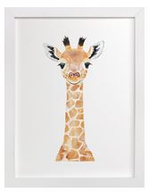 Baby Giraffe Art Print for Gender Neutral Animal Theme Nursery