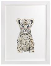 Baby Leopard Art Print for Gender Neutral Animal Theme Nursery
