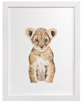 Baby Lion Art Print for Gender Neutral Animal Theme Nursery