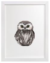 Baby Owl Art Print for Gender Neutral Animal Theme Nursery