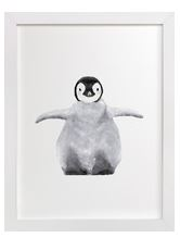 Baby Penguin Art Print for Gender Neutral Animal Theme Nursery