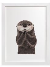 Baby Sea Otter Art Print for Gender Neutral Animal Theme Nursery