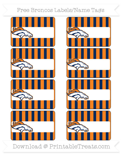 Free Broncos Labels to Print