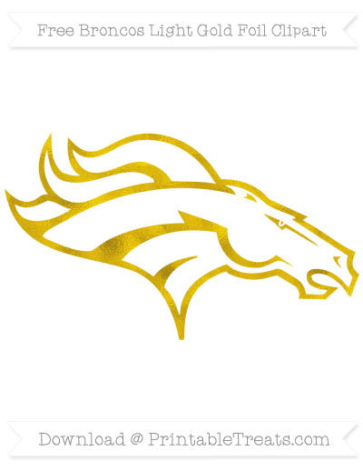 Free Broncos Light Gold Foil Clipart