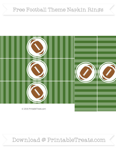 Football Theme Napkin Rings