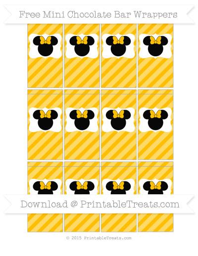 Free Amber Diagonal Striped Minnie Mouse Mini Chocolate Bar Wrers