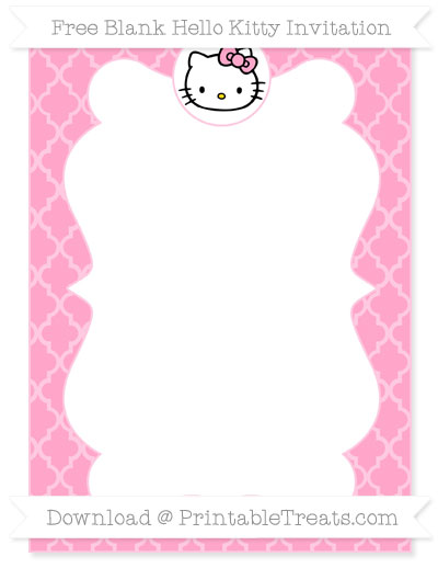Hello Kitty Letters Template
