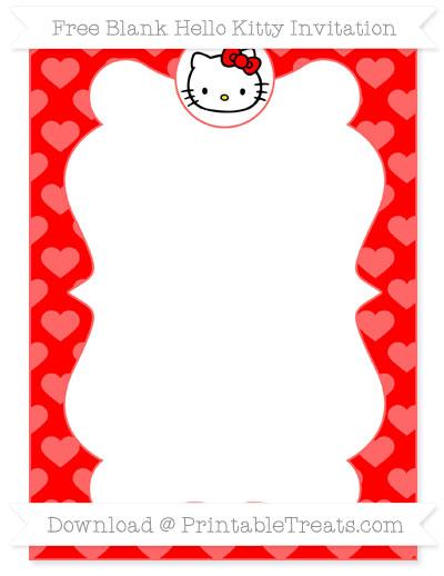 hello kitty invitation printable