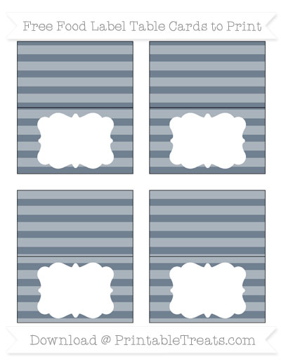 Free Slate Grey Horizontal Striped Simple Food Labels