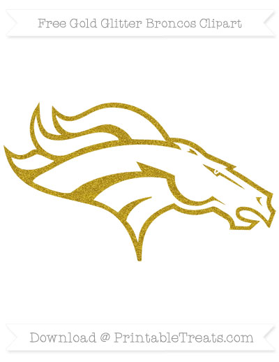 Free Broncos Gold Glitter Clipart