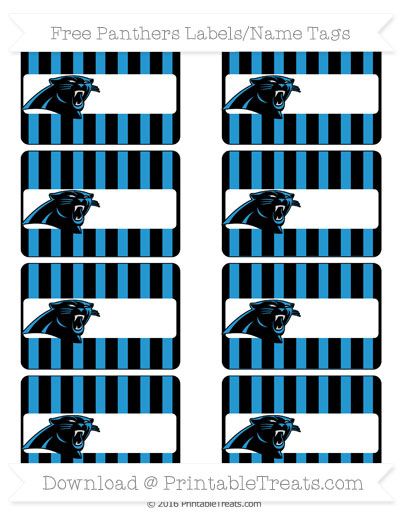 Free Panthers Labels to Print