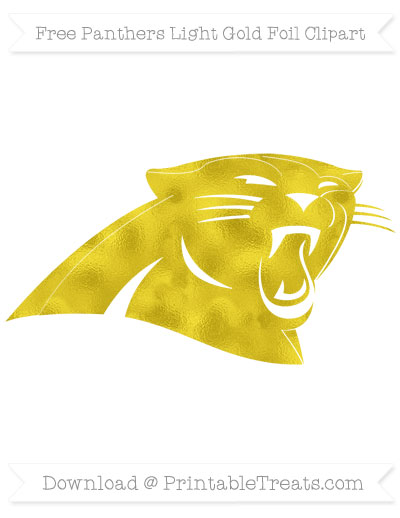 Free Panthers Light Gold Foil Clipart