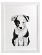 Puppy Art Print for Gender Neutral Animal Theme Nursery