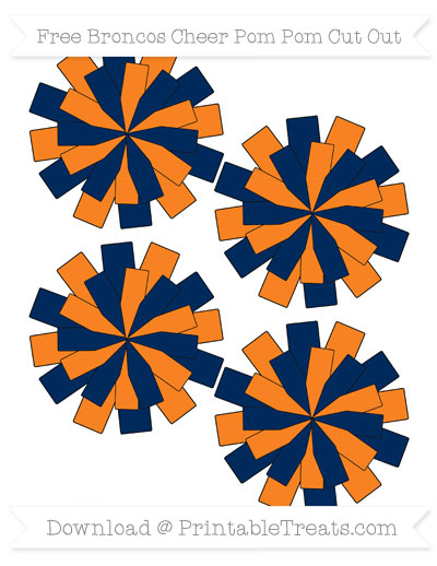 Free Small Broncos Cheer Pom Pom Cut Out