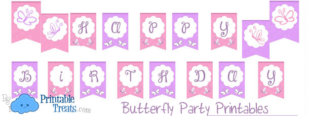 butterfly party printables