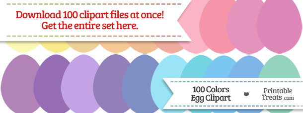 100 Colors Egg Clipart Download