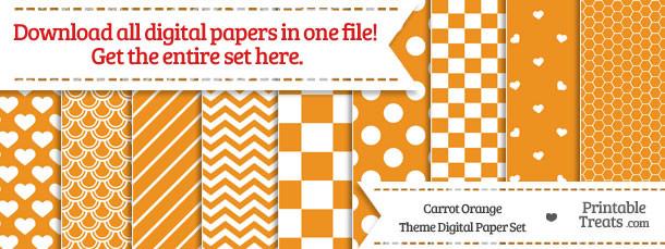 26 Carrot Orange Digital Paper Set Download