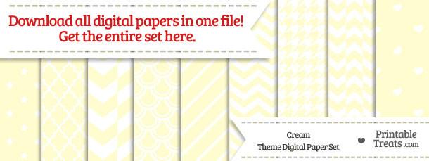 26 Cream Digital Paper Set Download