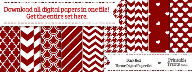 26 Dark Red Digital Paper Set Download