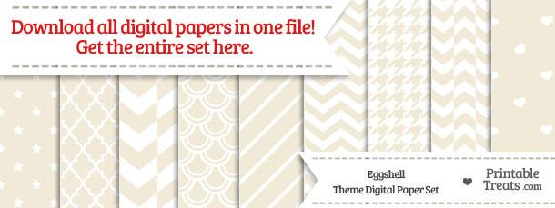 26 Eggshell Digital Paper Set Download