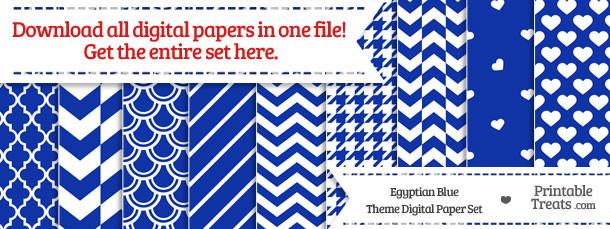 26 Egyptian Blue Digital Paper Set Download