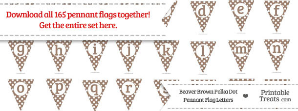 Beaver Brown Polka Dot Pennant Flag Letters Download