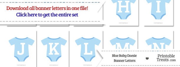 Blue Baby Onesie Shaped Banner Letters Download