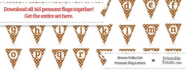 Brown Polka Dot Pennant Flag Letters Download