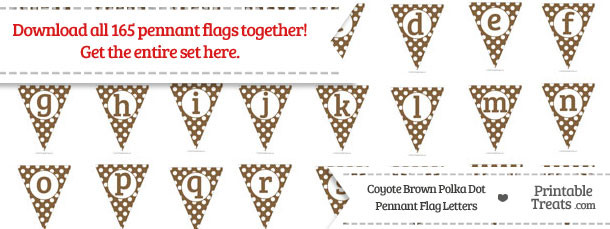 Coyote Brown Polka Dot Pennant Flag Letters Download