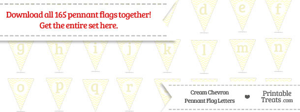 Cream Chevron Pennant Flag Letters Download