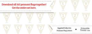 Eggshell Polka Dot Pennant Flag Letters Download