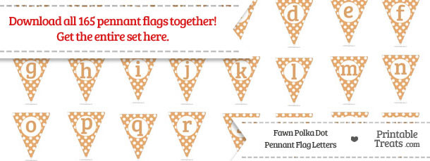 Fawn Polka Dot Pennant Flag Letters Download