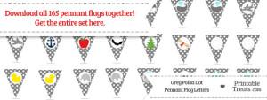 Grey Polka Dot Pennant Flag Letters Download