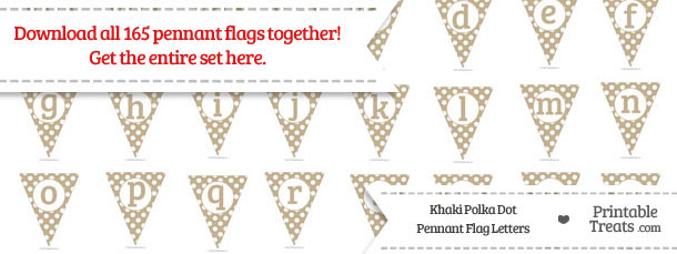 Khaki Polka Dot Pennant Flag Letters Download