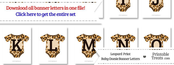 Leopard Print Baby Onesie Shaped Banner Letters Download