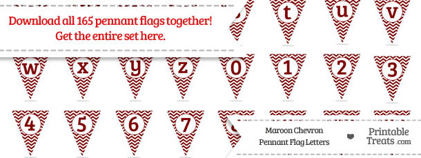 Maroon Chevron Pennant Flag Letters Download