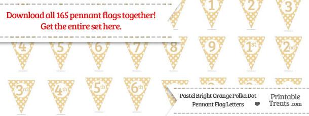Pastel Bright Orange Polka Dot Pennant Flag Letters Download