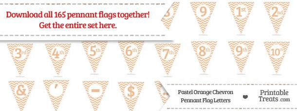 Pastel Orange Chevron Pennant Flag Letters Download